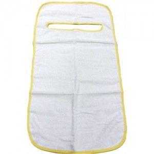 White Terry Towelling Mealtime Clothing Protector / Adult Bib, W