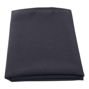 Table Overlay 100% Spun Polyester 90 x 90cm Black