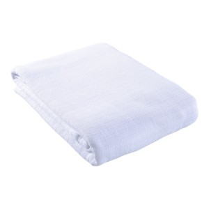 100% Cotton Celloweave Hospital Blanket - White - Single