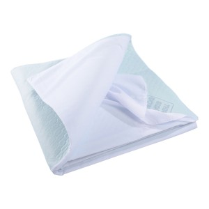 Drycare Deluxe Absorbent Bed Pad + Tuckins, Sky Blue
