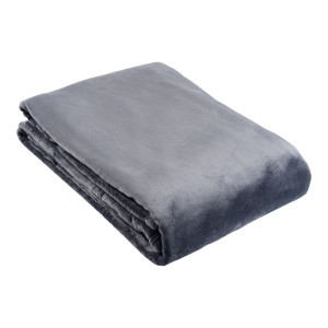 Single Ultra Plush Blanket - Charcoal or Mushroom