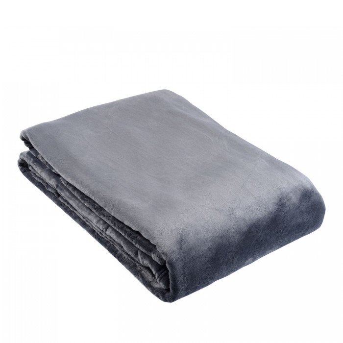 Single Ultra Plush Blanket - Charcoal