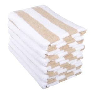 Towel - Pool Towel 70x150cm  Beige Stripe