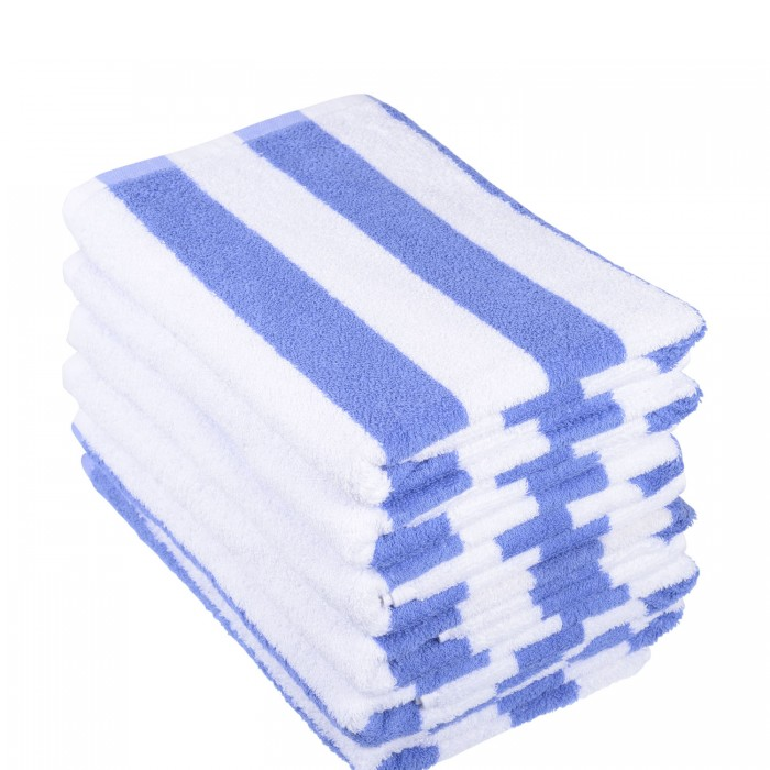 Towel - Pool Towel - 70x150cm Blue Stripe
