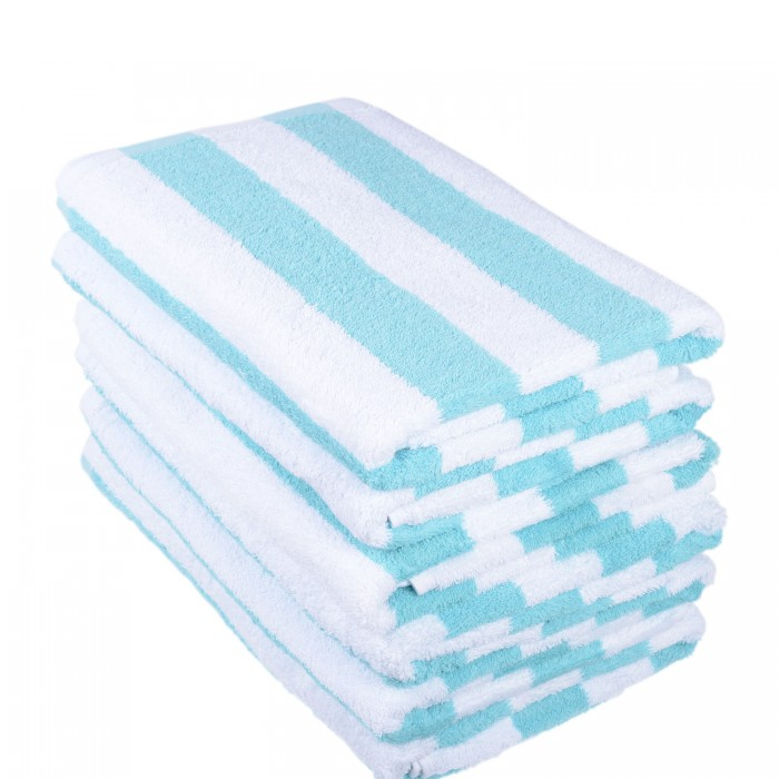 Towel - Pool Towel 70x150cm  Turquoise Stripe