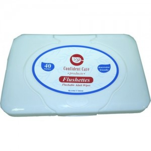 "Confident Care ""Flushettes"" Flushable and Macerator Friendly Wipes"