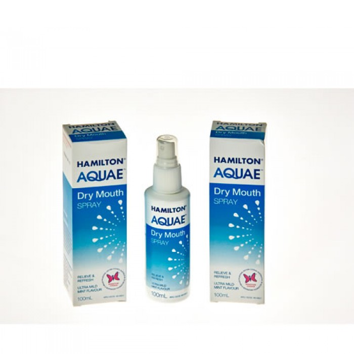 Hamilton Aquae Dry Mouth Spray, 100ml - AQUAE SPRAY