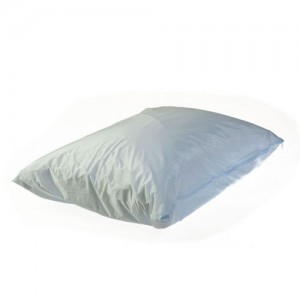 Light weight fully waterproof vinyl pillowcase with zip enclosure