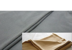 Polar Fleece Blanket - King Beige or Charcoal Grey
