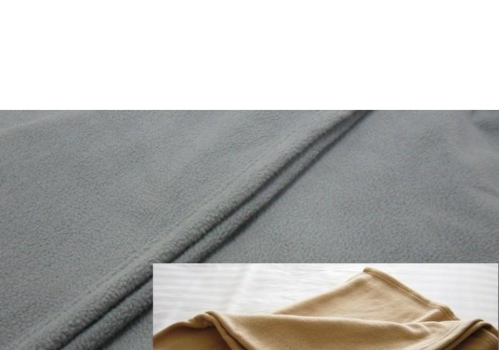 Polar Fleece Blanket - Single / King Single - Beige or Charcoal Grey
